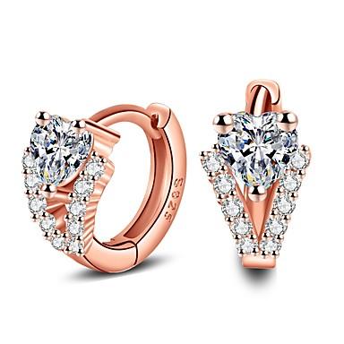 Pentru femei Lux Zirconiu Cubic Plastic Cristal Cercei Stud - Lux Modă Roz auriu Τρίγωνο cercei Pentru Casual Birou și carieră