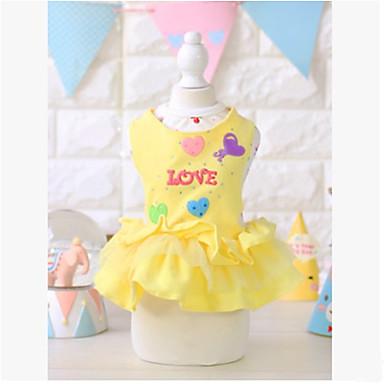 ieftine Imbracaminte & Accesorii Căței-Câine Rochii Îmbrăcăminte Câini Prințesă Galben Roz Bumbac Costume Pentru Primăvara & toamnă Vară Bărbați Pentru femei Casul / Zilnic
