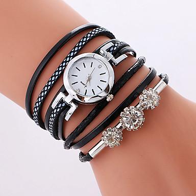 Pentru femei Ceas Brățară Ceas La Modă Quartz Ceas Casual PU Bandă Casual Cool Negru Alb Pink