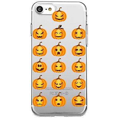 voordelige iPhone X hoesjes-hoesje Voor iPhone 7 Plus / iPhone 6s Plus / iPhone 6 Plus iPhone 8 Plus / iPhone 8 / iPhone SE / 5s Transparant / Patroon Achterkant Cartoon / Halloween Zacht TPU