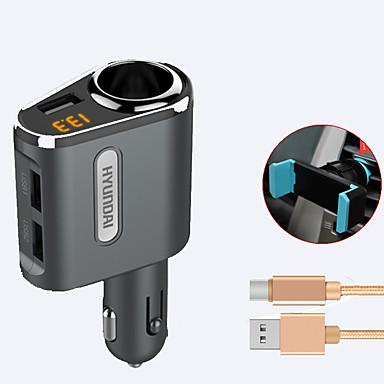 Universal Telefon încărcător USB Încarcator Rapid cm 1 Prize 3 Porturi USB 3.1A DC 12V-24V