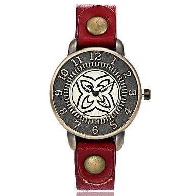 Pentru femei Unic Creative ceas Ceas de Mână Ceas La Modă Chineză Quartz cald Vânzare Piele Bandă Charm Vintage Casual Elegant Negru Roșu