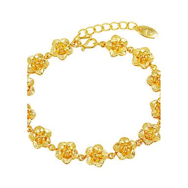 Pentru femei Brățări cu Lanț & Legături - Placat Auriu Florale / Botanice, Floare Lux Brățări Auriu Pentru Nuntă / Cadou