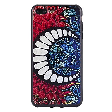 Pentru iPhone 7 iPhone 7 Plus Carcase Huse Model Carcasă Spate Maska Model Geometric Moale TPU pentru Apple iPhone 7 Plus iPhone 7 iPhone