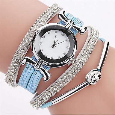 c1a5b4e5b17e Damskie Zegarek na bransoletce Atrapa diamentu Kwarc Pikowana skóra PU  Czarny   Biały   Niebieski Imitacja