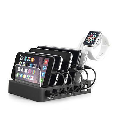 Încărcător USB Miimall 6 porturi Stație încărcător de birou Stand Dock Priză US Priză EU Priză UK Priză AU Adaptor de încărcare