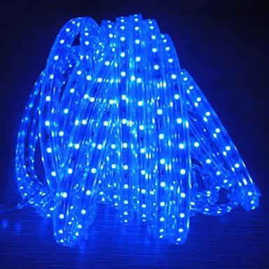 800 만 220V의 higt 밝은 유연한 빛 스트립 유럽 연합 (EU) 전원 플러그와 5050 480smd 세 크리스탈 방수 라이트 바 정원 조명을 주도