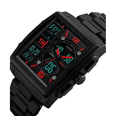 levne Pánské-Pánské Sportovní hodinky Vojenské hodinky Náramkové hodinky japonština Křemenný Černá 50 m Voděodolné Kalendář Chronograf Analog - Digitál Vintage Na běžné nošení Skládaný - Černá Červená Modrá