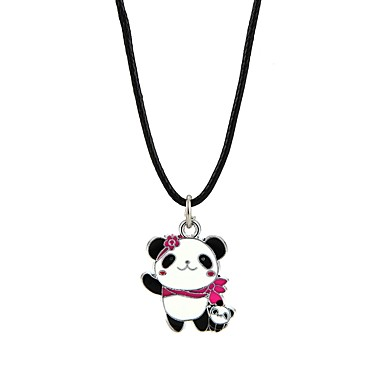billige Mode Halskæde-Herre Dame Halskædevedhæng Panda Dyr Yndig Sort Halskæder Smykker Til Forlovelse Ceremoni