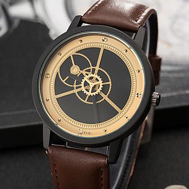 Pentru femei Unic Creative ceas Ceas de Mână Ceas La Modă Ceas Casual Quartz PU Bandă Charm Lux Creative Casual Elegant Cool Negru Maro