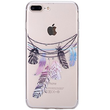 For iPhone 7 iPhone 7 Plus Case Cover Rhinestone Ultra-thin Transparent Pattern Back Cover Case Dream Catcher Soft TPU for Apple iPhone 7