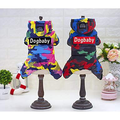Pisici Câine Haine Hanorace cu Glugă Haină de ploaie Salopete Rochii Îmbrăcăminte Câini Casul/Zilnic Impermeabil Keep Warm Sport