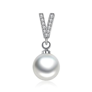 Pentru femei Picătură Clasic De Bază Coliere cu Pandativ Imitație de Perle Zirconiu Cubic Imitație de Perle Placat Auriu Coliere cu