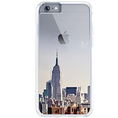 Pentru iPhone 7 iPhone 7 Plus Carcase Huse Ultra subțire Transparent Model Carcasă Spate Maska city View Moale TPU pentru Apple iPhone