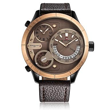 Bărbați Pentru femei Ceas Sport Ceas Militar Ceas de Mână Japoneză Quartz Calendar Cronograf Rezistent la Apă Zone Duale de Timp Iluminat
