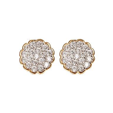 Pentru femei Cercei Stud Diamant sintetic Lux Bling bling Ștras Round Shape Flower Shape Bijuterii Pentru Nuntă Petrecere