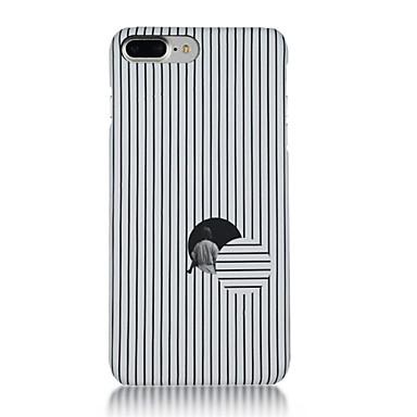 Maska Pentru Apple iPhone 7 Plus iPhone 7 Ultra subțire Model Capac Spate Linii / Valuri Desene Animate Moale TPU pentru iPhone 7 Plus