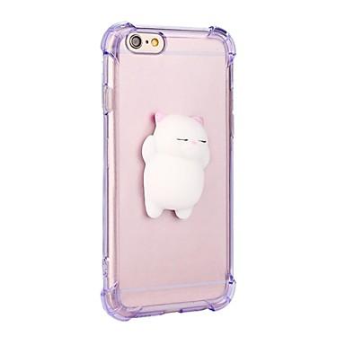 Pentru iPhone 7 iPhone 7 Plus Carcase Huse Anti Șoc squishy Carcasă Spate Maska Pisica Culoare solidă Desene 3D Moale TPU pentru Apple