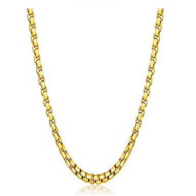 billige Mode Halskæde-Herre Dame geometrisk Kort halskæde Sølvbelagt Guldbelagt minimalistisk stil Guld Sølv Halskæder Smykker Til Gave Daglig
