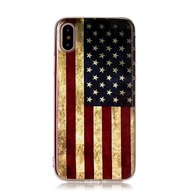 Pentru iPhone X iPhone 8 iPhone 8 Plus Carcase Huse Ultra subțire Model Carcasă Spate Maska Steag Moale TPU pentru Apple iPhone X iPhone
