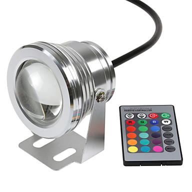 economico Luci per esterni-hkv® ha condotto la luce subacquea dimmerabile rgb 10w 12v ha condotto la luce subacquea 16 colori 1000lm impermeabile ip67 fontana piscina illuminazione della lampada