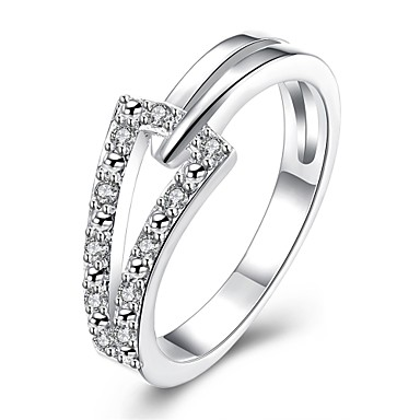 Pentru femei manşetă Ring Diamant sintetic Zirconiu Cubic Geometric Cute Stil Zirconiu Zirconiu Cubic Argilă Aliaj Circle Shape Geometric