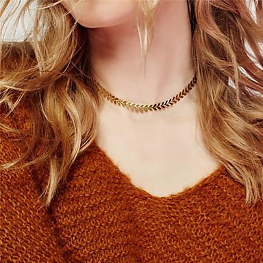 Damskie Leaf Shape Spersonalizowane Modny euroamerykańskiej Naszyjniki choker Biżuteria Stop Naszyjniki choker , Impreza Specjalne okazje
