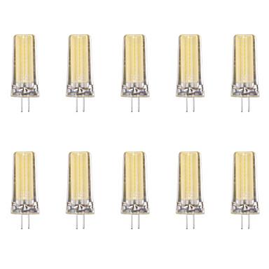 10 шт. 4W 80lm G4 Двухштырьковые LED лампы 1 Светодиодные бусины COB Тёплый белый Холодный белый 220-240V