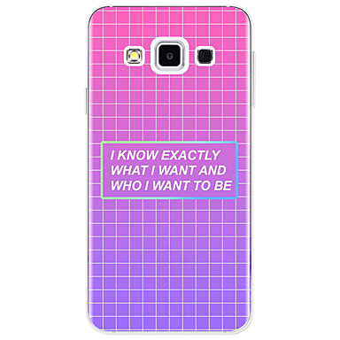 voordelige Galaxy A-serie hoesjes / covers-hoesje Voor Samsung Galaxy A3 (2017) / A5 (2017) / A7 (2017) Patroon Achterkant Woord / tekst / Geometrisch patroon Zacht TPU