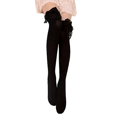 Çoraplar Gotik Lolita Lolita Siyah Lolita Aksesuarları Uzun Çorap Dantel İçin Pamuk