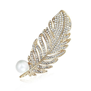 5a4ffdaa4 cheap Brooches-Women's Brooches Ladies Fashion Zircon Brooch Jewelry  Gold For