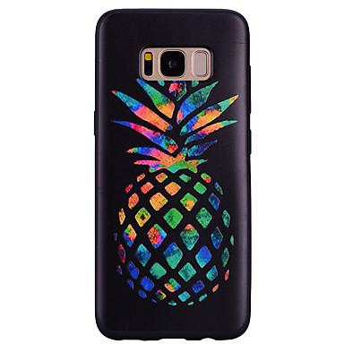 Недорогие Чехлы и кейсы для Galaxy S6-Кейс для Назначение SSamsung Galaxy S8 Plus / S8 / S7 edge С узором Кейс на заднюю панель Фрукты Мягкий Силикон