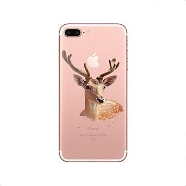 Coque Pour Apple iPhone X iPhone 8 iPhone 8 Plus Transparente Motif Coque Noël Animal Flexible TPU pour iPhone X iPhone 8 Plus iPhone 8