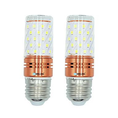 BRELONG® 2pcs 12W 1000lm E27 LED 콘 조명 T 60 LED 비즈 SMD 2835 따뜻한 화이트 화이트 듀얼 광원 색상 220-240V