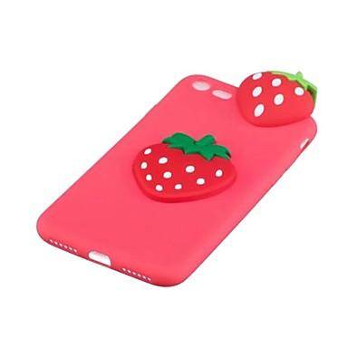 Capinha Para Apple iPhone X Antichoque Capa Traseira Desenhos 3D Fruta Macia TPU para iPhone X iPhone 8 Plus iPhone 8 iPhone 7 Plus