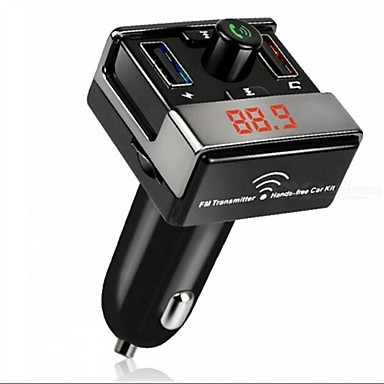 voordelige Bluetooth autokit/handsfree-dual usb bluetooth handsfree mp3 audio speler auto fm zender ondersteuning tf kaart usb flash disk voor android ios me3l
