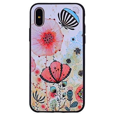 케이스 제품 Apple iPhone X iPhone 8 패턴 뒷면 커버 꽃장식 소프트 실리콘 용 iPhone X iPhone 8 Plus iPhone 8 iPhone 7 Plus iPhone 7 iPhone 6s Plus iPhone 6s