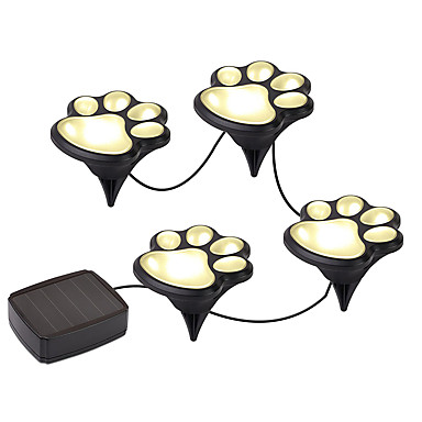 cheap Outdoor Lights-YWXLIGHT® 1pc Warm White Cold White Solar Powered High Quality DC5 Decoration Garden Lights