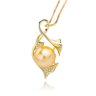 billige kolleksjon med mangefargede perler-Dame Perle Anheng Halskjede damer Luksus Vintage Perle Sølv Imitert Perle Gull Sølv Halskjeder Smykker Til Fest Gave / Gull perle