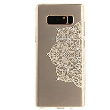 케이스 제품 Note 8 크리스탈 울트라 씬 투명 패턴 뒷면 커버 레이스 인쇄 소프트 TPU 용 Note 8 Note 5 Edge Note 5 Note 4 Note 3 Lite Note 3 Note 2 Note Edge Note