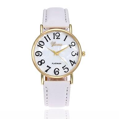 levne Kůže-Pánské Dámské Náramkové hodinky Křemenný Kůže Černá / Bílá / Modrá Hodinky na běžné nošení Analogové Přívěšky Módní - Růžová Khaki Světle zelená