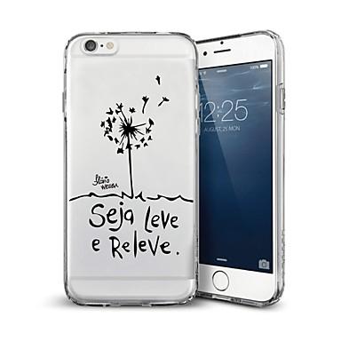 voordelige iPhone 5 hoesjes-hoesje Voor iPhone 7 / iPhone 7 Plus / iPhone 6s Plus iPhone 8 Plus / iPhone 8 / iPhone SE / 5s Patroon Achterkant Woord / tekst Zacht TPU