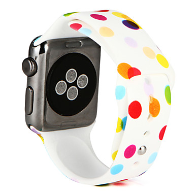 Horlogeband voor Apple Watch Series 3 / 2 / 1 Apple Sportband Silicone Polsband