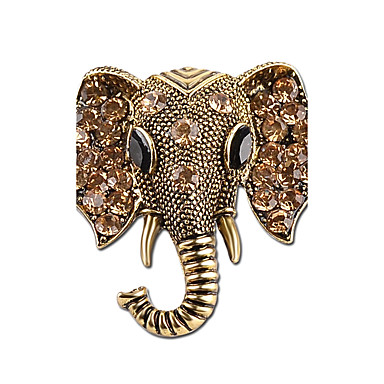 Women's Brooches - Rhinestone Elephant Simple, Vintage Brooch Gold / Silver For Casual / Going out