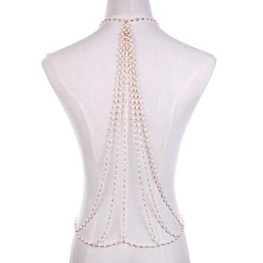 preiswerte Körperschmuck-Perlen Körper-Kette / Bauchkette Perlen Erklärung, damas, Rockig Damen Gold Körperschmuck Für Klub