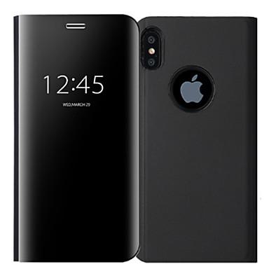 iPhone Con iPhone Custodia unita magnetica chiusura 8 8 X iPhone 06183810 Per iPhone Integrale Tinta Plus Plus 8 specchio X PC A Resistente per Apple 8 Placcato iPhone iPhone 7wr1qEwW