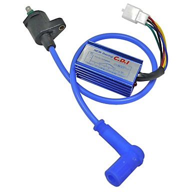 Blue Modified Off Road Motorcycle ATV Dirt Pit Bike Racing CDI Ignition  Coil Line 125CC