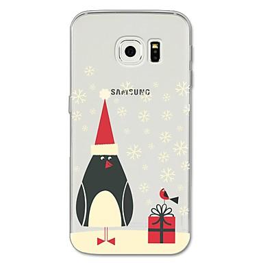 رخيصةأون Galaxy S6 Edge أغطية / كفرات-غطاء من أجل Samsung Galaxy S8 Plus / S8 / S7 edge نموذج غطاء خلفي كارتون / عيد الميلاد ناعم TPU