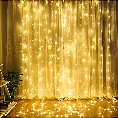 4m String Lights 300 LEDs Dip Led Warm White / Cold White / Blue Decorative / Linkable / Christmas 220-240 V 1pc / IP65