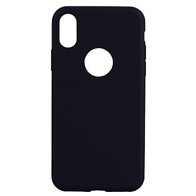 Hülle Für Apple iPhone X iPhone 8 Durchscheinend Rückseite Volltonfarbe Weich TPU für iPhone X iPhone 8 Plus iPhone 8 iPhone 7 Plus
